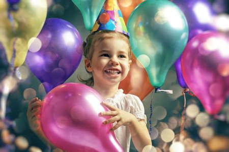 home party: beautiful child enjoying life