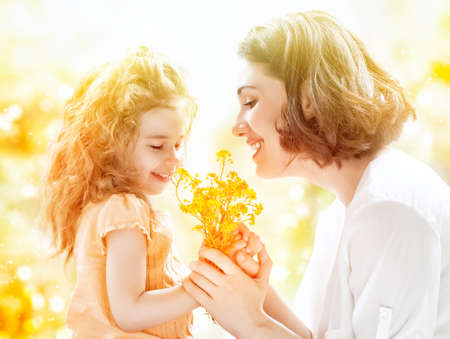 happy mother and child together photo
