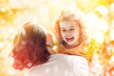 happy mother and child together Stock Photo - 29460328