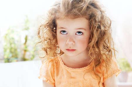 beautiful child is sad Stock Photo