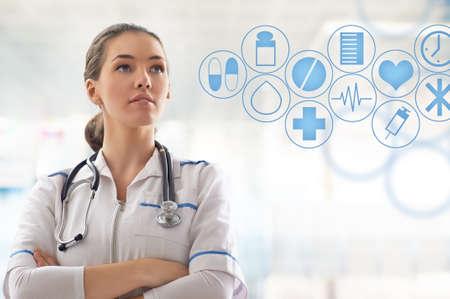 병원 방에 성공적인 의사