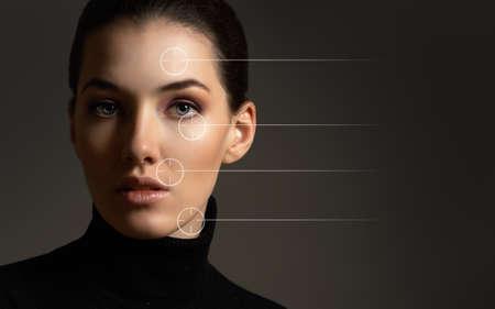 skin: beauty woman on the dark background