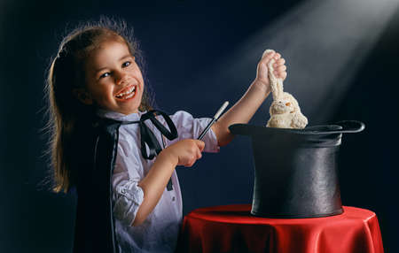 the little magician does tricks Stock Photo - 39659750