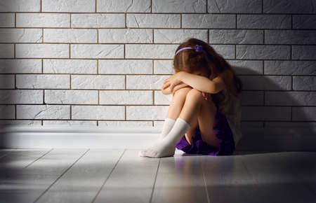 abuse: the little girl is afraid