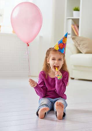 enjoying life: beautiful child enjoying life