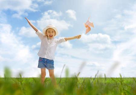 arm: a beautiful child enjoying life