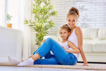 daughter: happy mother with her child