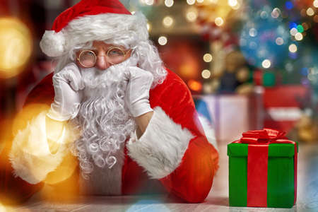 funny glasses: Portrait of funny Santa Claus