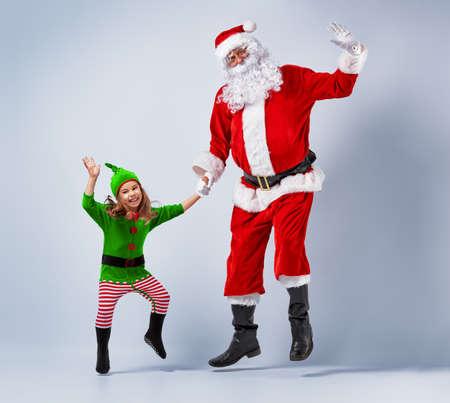 tanzen: Sankt und Elfe, die Spaß und Tanz.