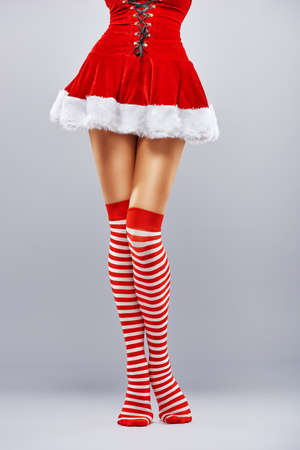 ankles sexy: Beautiful sexy woman in Santa Claus clothes