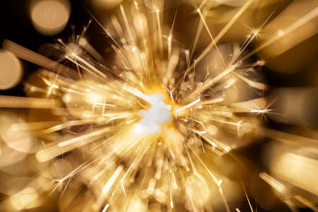 Fireworks at dark background. Abstract holiday background. Stock Photo