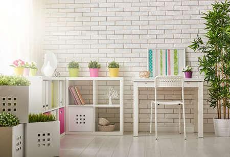 unisex: Interior of colorful unisex room for child