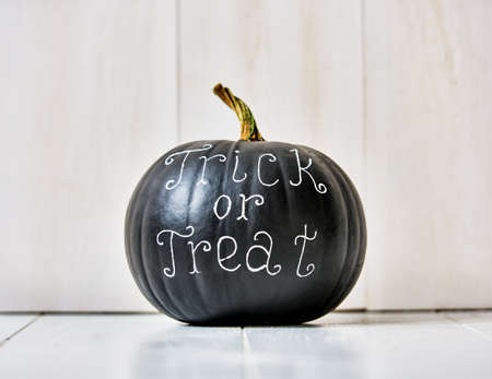 title emotions: Happy halloween! Pumpkin on white background.