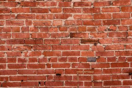 brick floor: Pared de ladrillo rojo angustiado