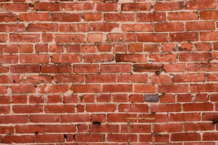 Red brick wall distressed