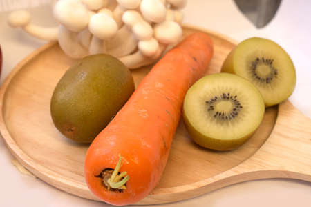 Mix fresh vegetables and fruits for healty, patient or diet people.
