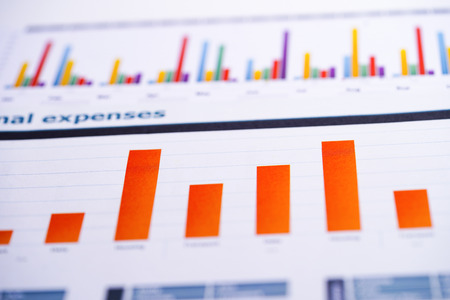 Charts Graphs spreadsheet paper. Financial development, Banking Account, Statistics, Investment Analytic research data economy, Stock exchange trading, Business office company meeting concept. Фото со стока