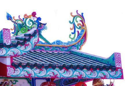 roof of temple Chinese
