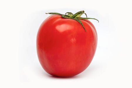 Tomato fresh vegetable isolated on white background.