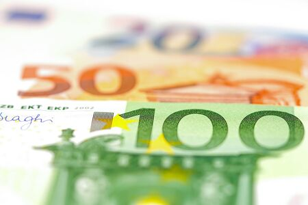 Euro banknotes background : Banking Account, Investment Analytic research data economy, trading, Business company concept.