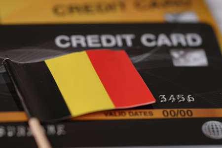 Germany flag on credit card : Business and finance concept. Standard-Bild