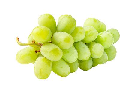 Fresh green grape isolated on white background. Stock Photo