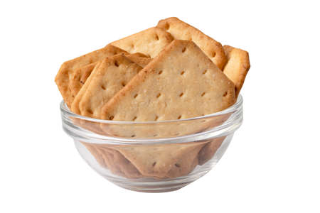 Cracker bread snack food isolated on white background with clipping path.