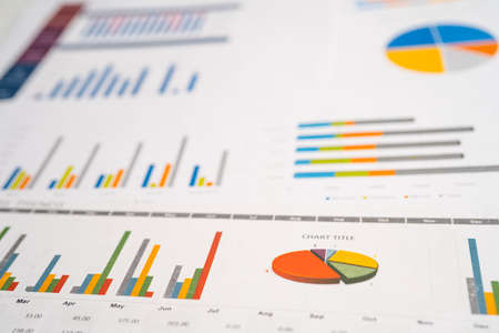 Charts Graphs paper. Financial development, Banking Account, Statistics, Investment Analytic research data economy, Stock exchange Business office company meeting concept.