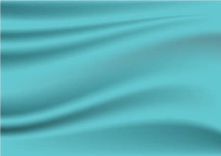 Blue wrinkled creased fabric texture background.Vector illustration.