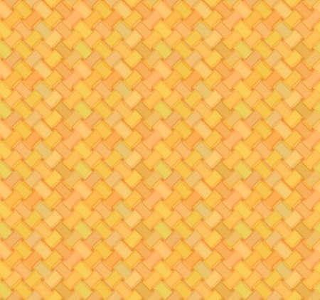 chaume: simple, seamless de natte de paille dans des couleurs jaunes et oranges Illustration
