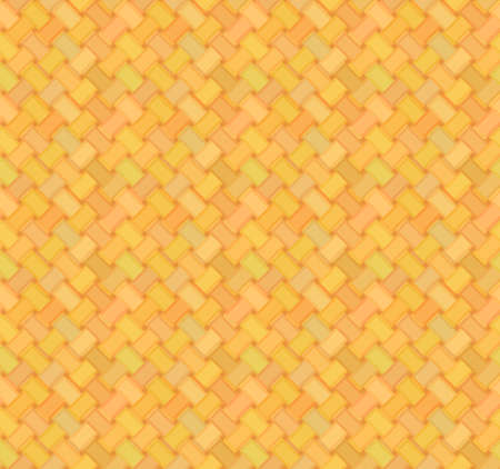 thatch: simple straw mat seamless pattern in yellow and orange colors Illustration