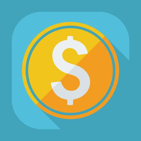 signos de pesos: Dise�o moderno plana con la moneda sombra, la moneda