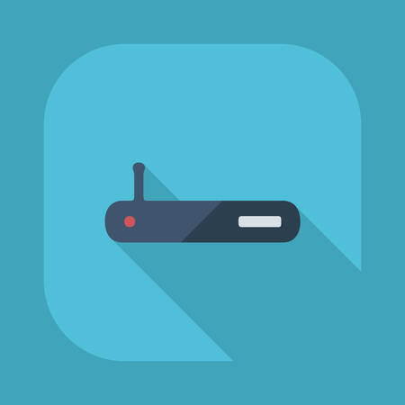 adapter: Flat modern design with shadow vector icons: Wi fi adapter Illustration
