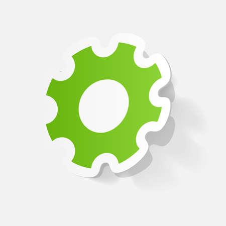 マニュアル: 紙クリップ ステッカー: 手動ピニオン  イラスト・ベクター素材