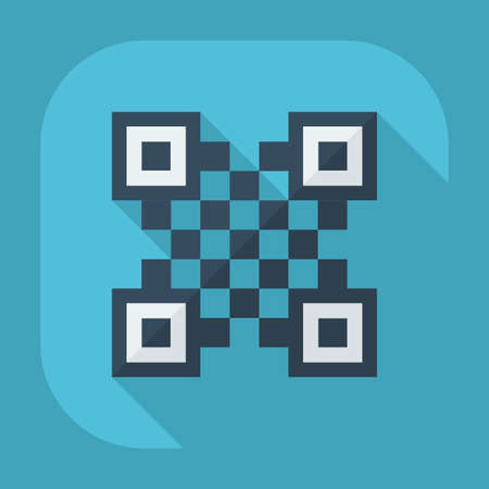 qrcode: Flat modern design with shadow QR-Code Illustration