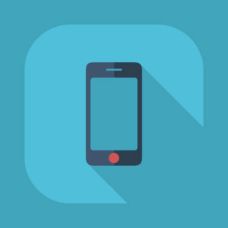 telephone icons: Flat modern design with shadow vector icons: mobile phone Illustration