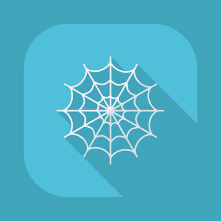 spider webs: Flat modern design with shadow vector icons: halloween spider webs