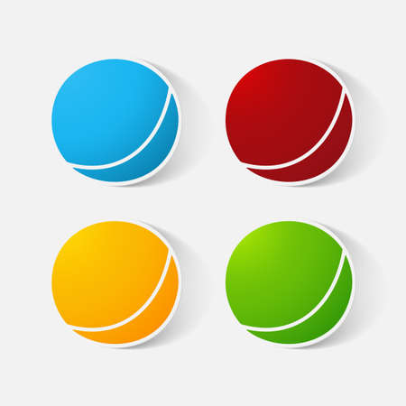 paper ball: Paper clipped sticker: childrens ball