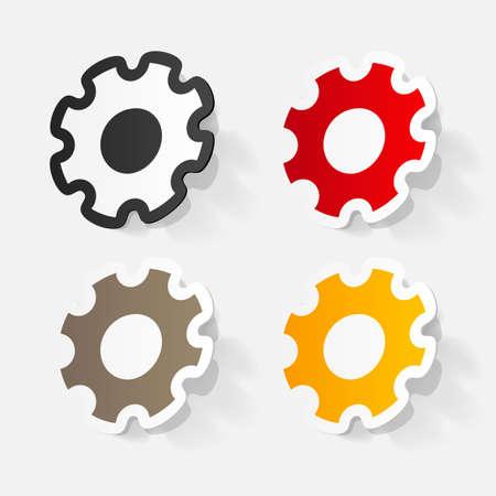 pinion: Paper clipped sticker: Manual pinion Illustration