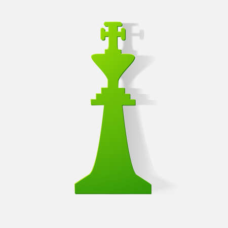 king master: Paper clipped sticker: Chessman King
