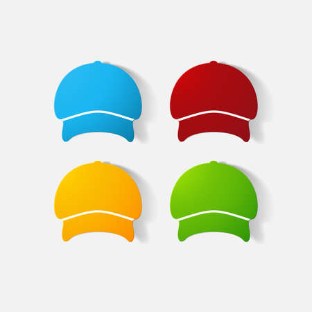headgear: Paper clipped sticker: headgear, Cap