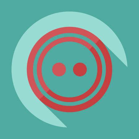 icon buttons: Dise�o moderno plana con el icono de sombra Botones para la ropa