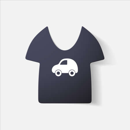 clipped: Paper clipped sticker: Childrens T-shirt