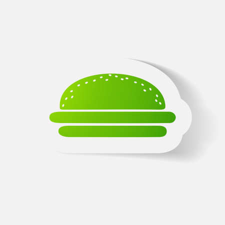 clipped: Paper clipped sticker: burger