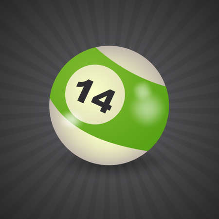 14: set of billiard balls, billiards, American ball number 14