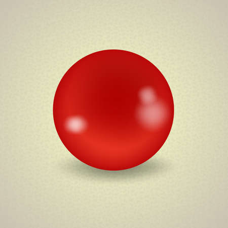 red ball: set of billiard balls, billiards, American A red ball Illustration