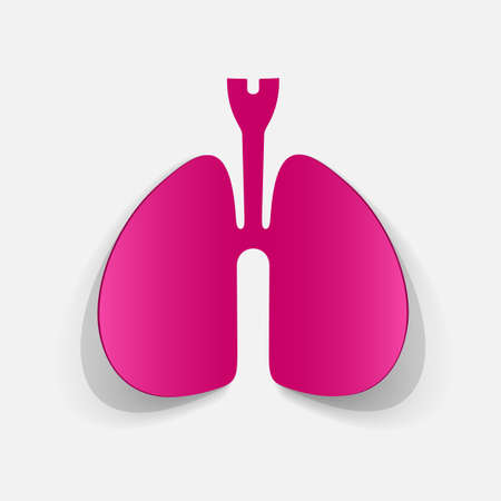 clipped: Paper clipped sticker: lungs