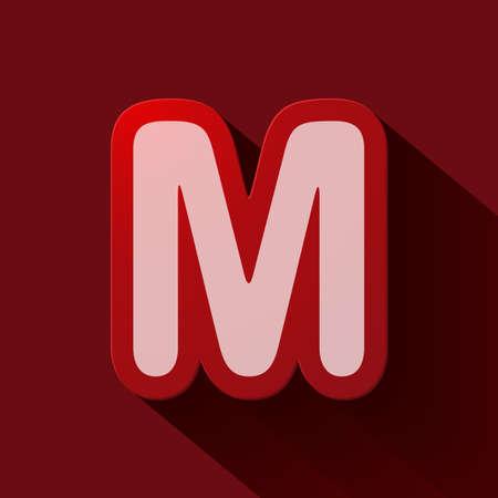 letter m: Volume icons alphabet: M