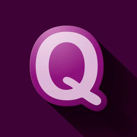 q: Volume icons alphabet: Q Vettoriali