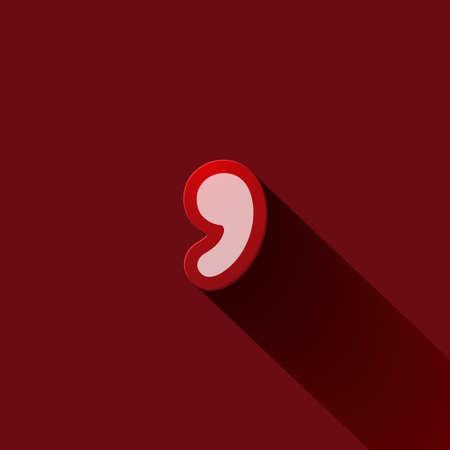 comma: Volume icons symbol: comma